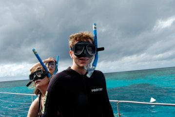 Students with snorkles
