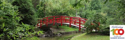Duke Gardens Red Japanese Bridge