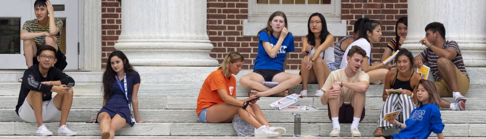 Students on Baldwin Steps